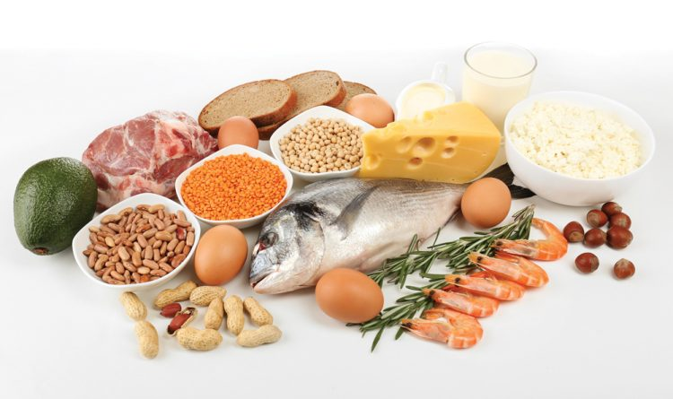 Tetap konsumsi yang mengandung protein dan serat