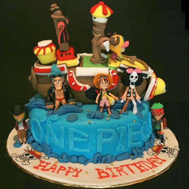 Kue ulang tahun anak One Piece