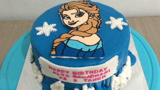 Kue ulang tahun hiasan kartun