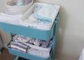 Perlengkapan bayi baru lahir tersusun rapi