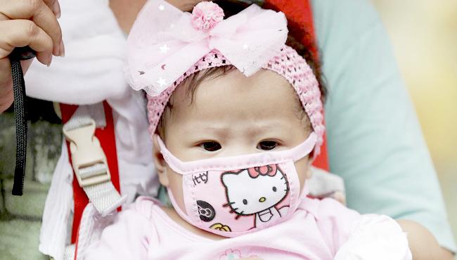 face shiled untuk bayi