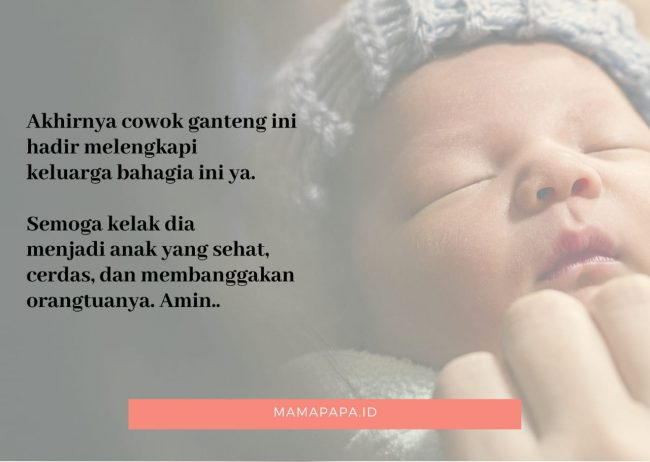 kartu ucapan kelahiran bayi laki - laki