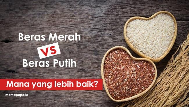 nasi merah vs nasi putih